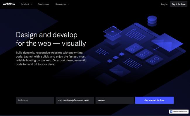 ساخت سایت رایگان با webflow