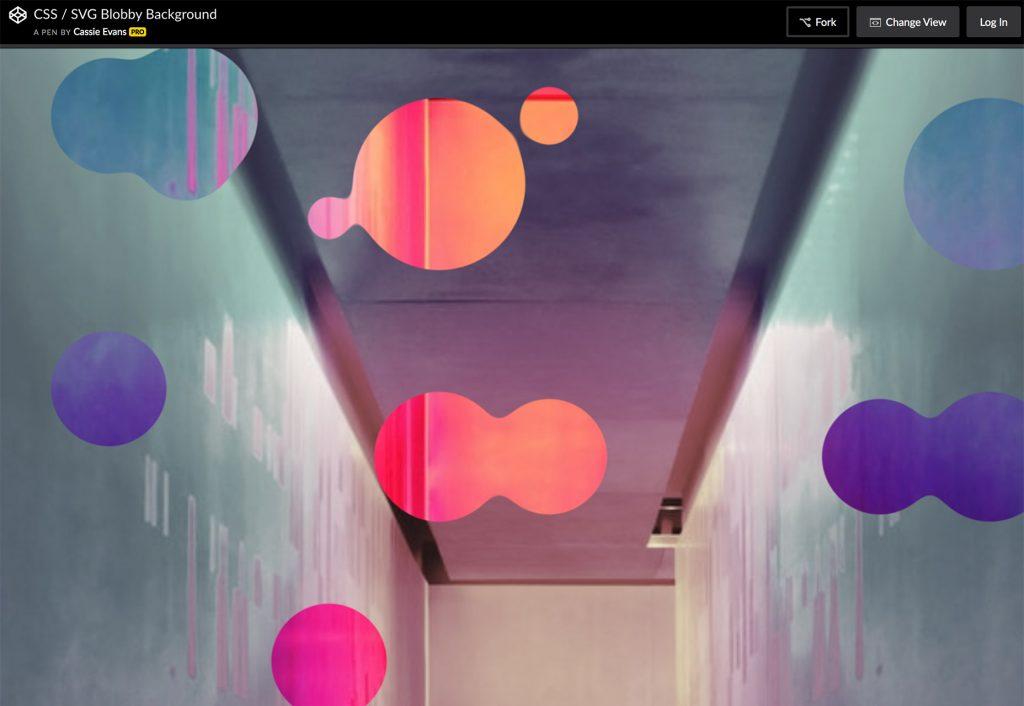 حباب در پشت زمینه وب سایت با blobs