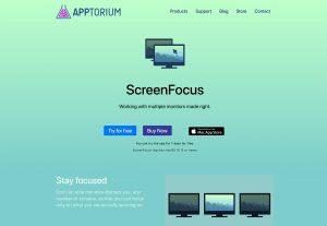 ابزار مدیریت مانیتور و طراحی سایت ScreenFocus
