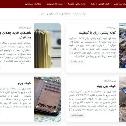 صفحه وبلاگ